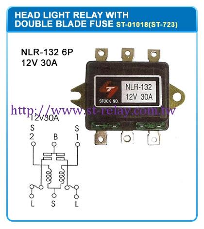 NLR-132 6P  12V 30A