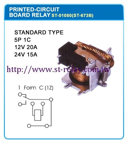 STANDARD TYPE  5P 1C  12V 20A  24V 15A