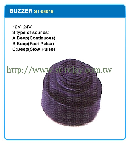 12V 24V  5 TYPES OF SOUNDS:  A:BEEP(CONTINUOUS) 2P  B:BEEP(FAST PULSE) 2P  C:BEEP(SLOW PULSE) 2P  D:3P  E:3P