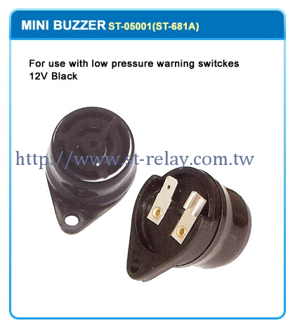 FOR USE WITH LOW PRESSURE WARNING SWITCHES 12V BLACK